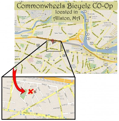 Map to Commonwheels